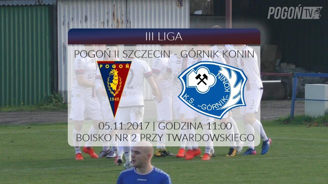 III liga: Pogoń II Szczecin – Górnik Konin 2:0 (2:0)