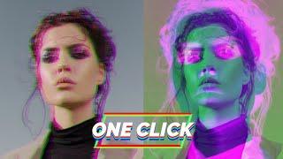 Create Glitch Animation in ONE click 😎 (Photoshop Glitch Tutorial)