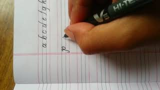 How to write mono cursive