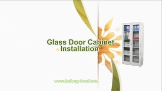 How To Install A Glass Door Bookcase (jf-c012)