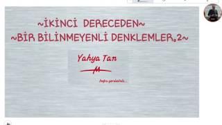 İKİNCİ DERECEDEN BİR BİLİNMEYENLİ DENKLEMLER.2#yks #tyt #ayt #matematik
