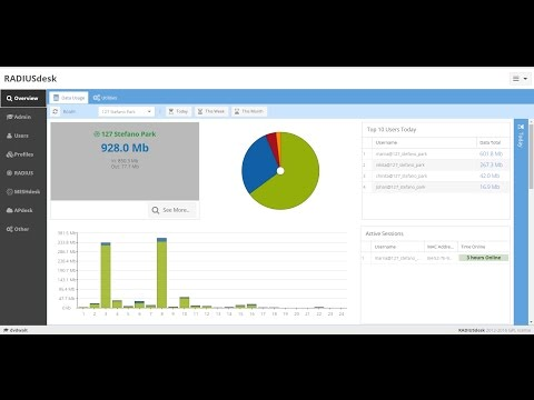 RADIUSdesk - freeRadius Ubuntu 16 server Modern web interface and