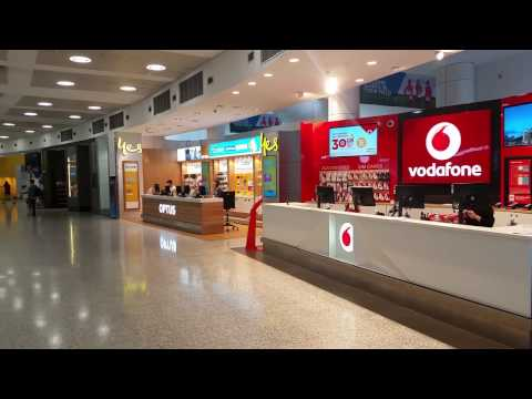 Vodafone Traveler Prepaid Mobile SIM Card Rates At Sydney Airport, Australia