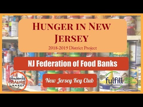 District Project: Hunger in New Jersey 2018-2019