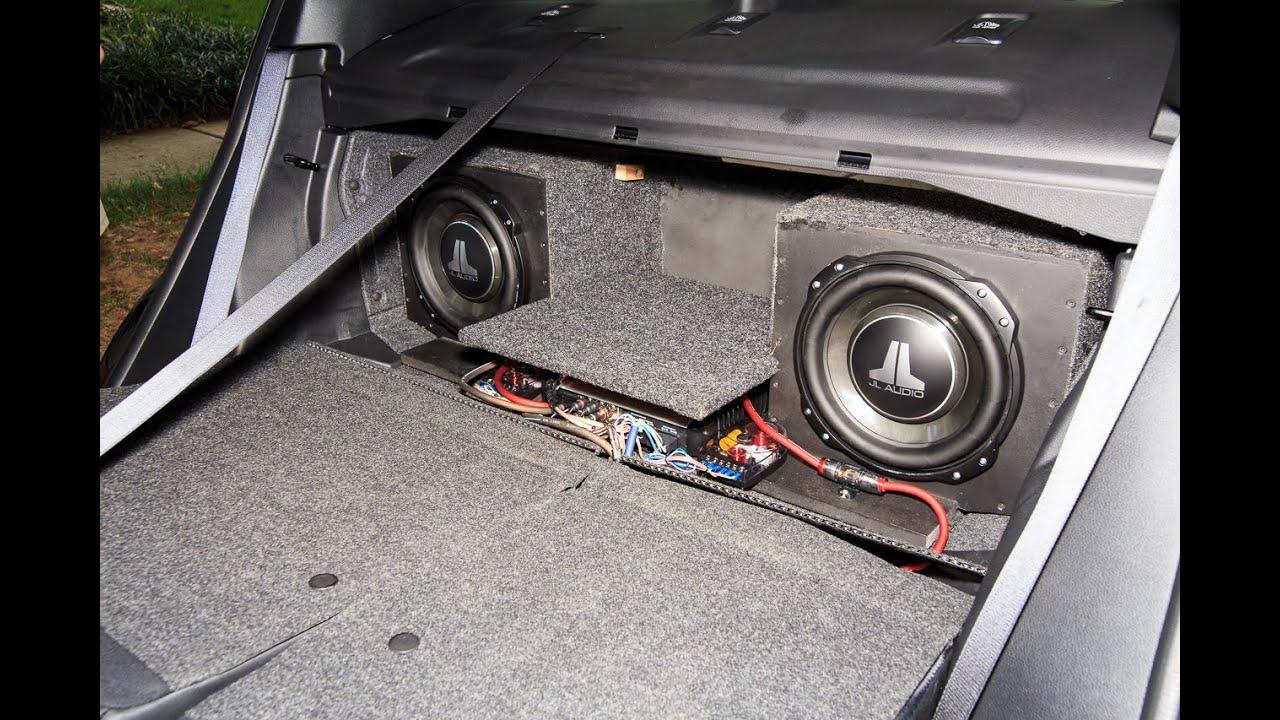 2016 Subaru WRX STi Stereo Install with custom sub box  YouTube