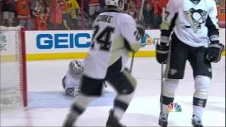 Maxime Talbot SHG goal & scruml. Pittsburgh Penguins vs Philadelphia Flyers 4/15/12 NHL Hockey