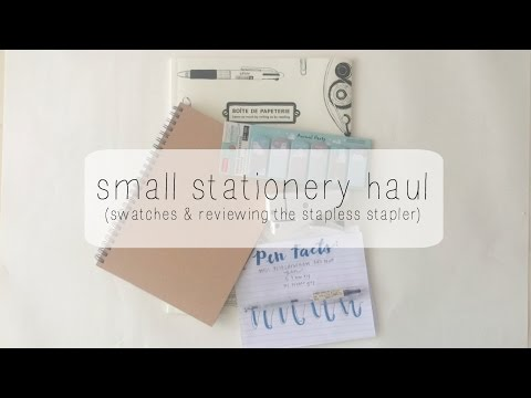 Small Stationery Haul ( + demos & staple-free stapler review!)