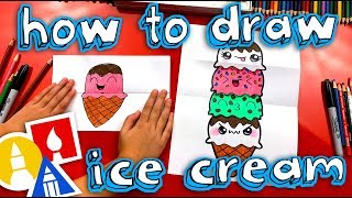How To Draw An Ice Cream Tower With Folding