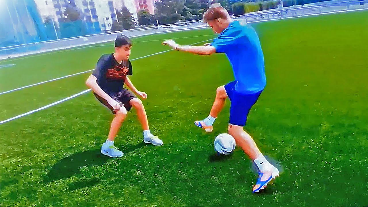TOP 3 ★ 1 on 1 Dribbling Matchplay Football Skills ...