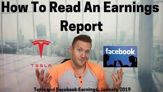 Как Читать Отчет о Доходах — Доходы Tesla & Facebook за Январь 2019 | Заработок Автоматом Приложение