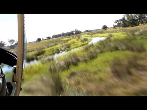 Botswana, Helicopter flight, 05.03.2012