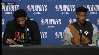 Jimmy Butler and Joel Embiid - Interview after loss to the Raptors in Game 7