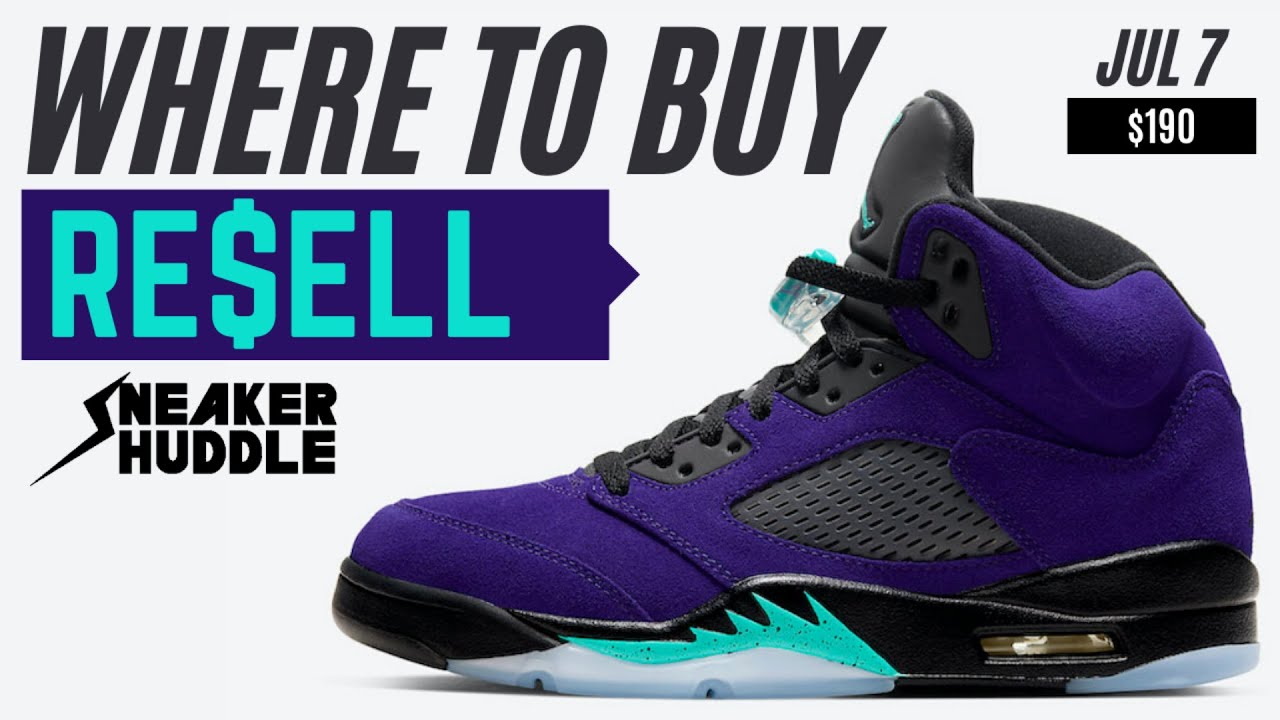 Nike Air Jordan 5 Alternate Grape | Where To Buy + Resell Prediction | Sneaker Huddle
