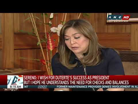 Sereno to Duterte: Checks and balances