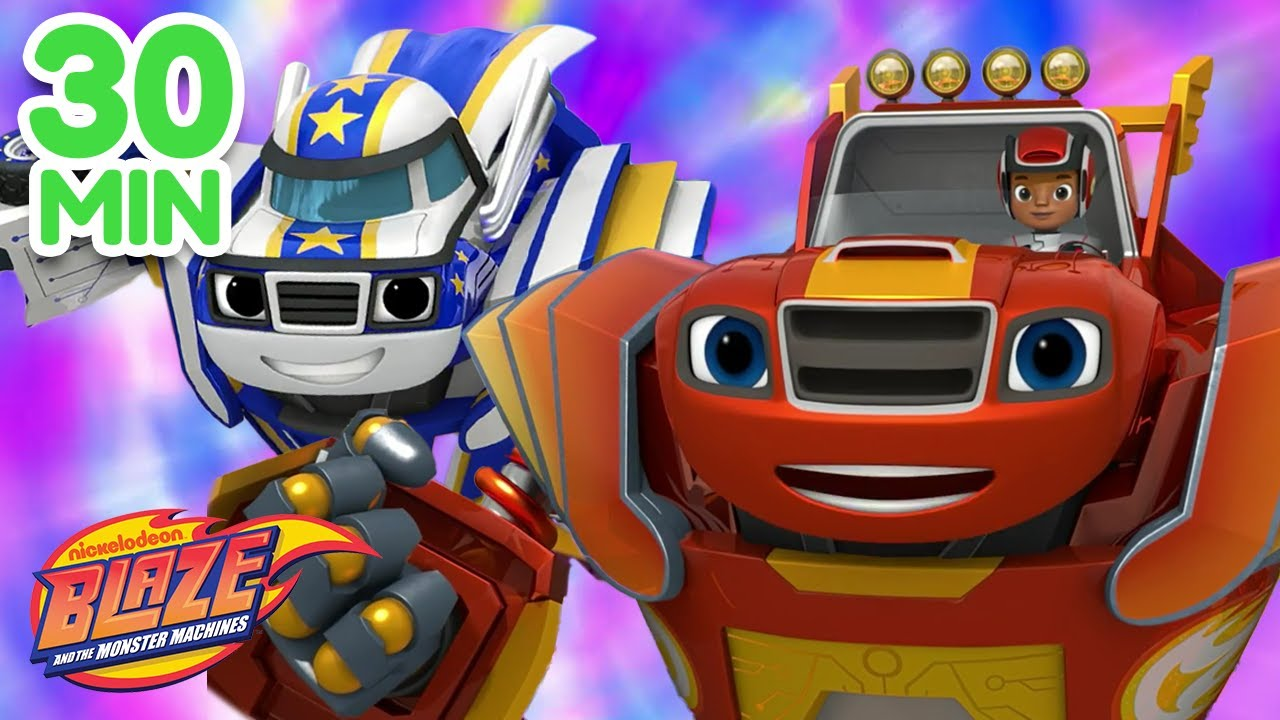 Download Robot Blaze & Friends To The Rescue Compilation |  Blaze and the Monster Machines