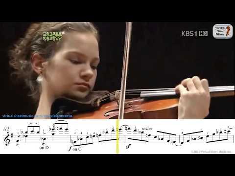 Mendelssohn Violin Concerto E Minor OP.64 - 1st mov. - Hilary Hahn - Sheet Music Play Along