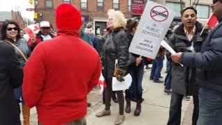 Liberal Professor yells at Protesters