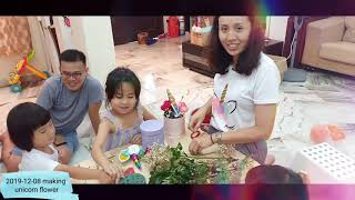 [2019-12-08] Unicorn flower workshop