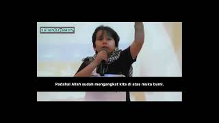 merinding tersentuh hati ini mendengar tangisan dan pidato anak palestina