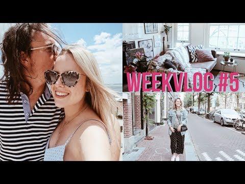 WEEKVLOG #5 / Back To Amsterdam & Kleine Woonkamer Tour!! | Billie Rose