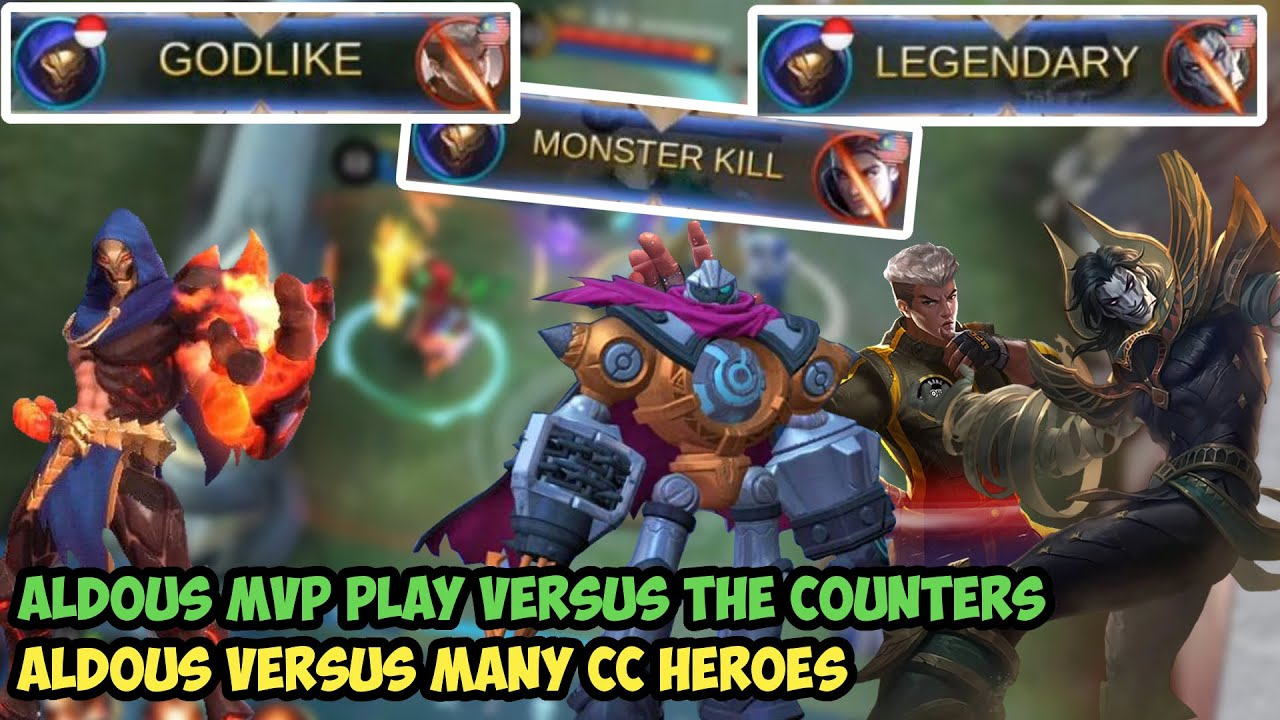 Aldous MVP Play Best Build Versus Many CC Heroes - Mobile Legends
