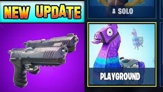 *NEW* DUAL PISTOLS + PLAYGROUND MODE! Fortnite Update (V4.5)