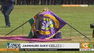 17 Battalion Kenya Rifles officially gets presidential and regimental flag