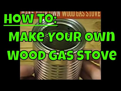 How to Make Your Own Wood Gas Stove - Wood Gas Gasifier Stove Build and Test