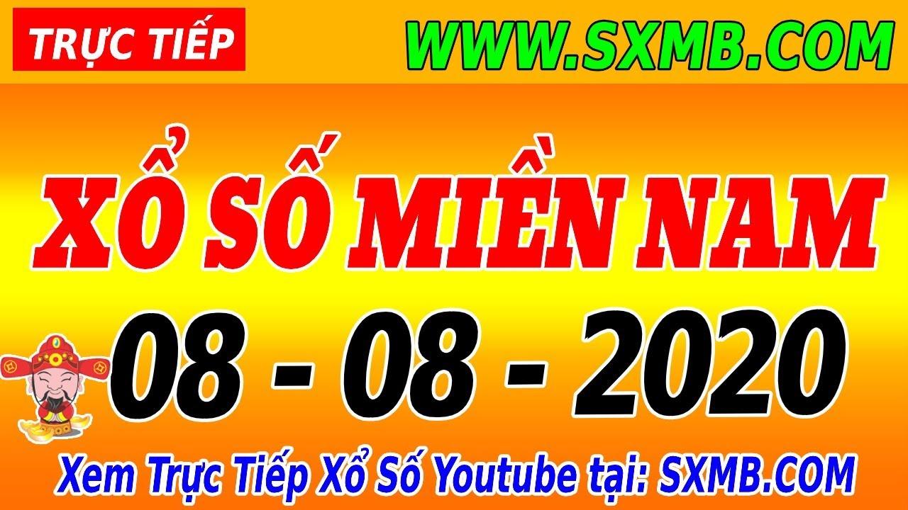 XSMN TRỰC TIẾP XỔ SỐ MIỀN NAM HÔM NAY THỨ 7 NGÀY 08/08/2020, KQXS MIEN NAM