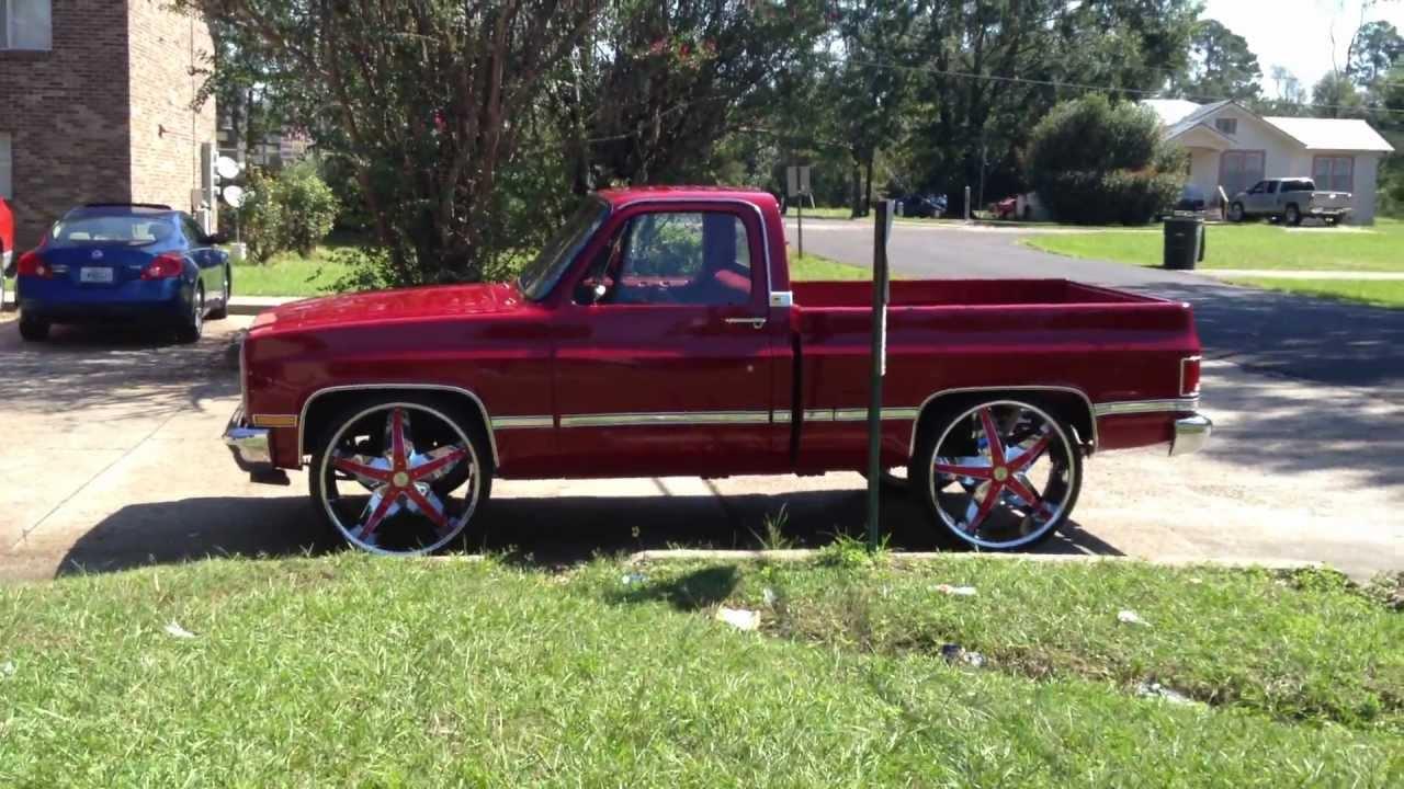 89 Box Chevy Impala On 30s And 85 Silverado On 28s