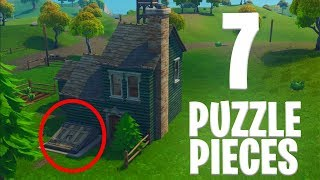ALL PUZZLE PIECES IN FORTNITE - Search Jigsaw Puzzle Pieces in Basements Guide + UNLOCKING RAGNAROK!