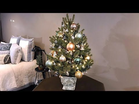 How To Decorate A Small Table Top Christmas Tree Video - Tree Stand Idea