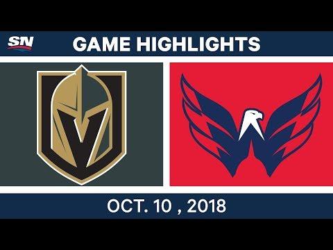 NHL Highlights   Golden Knights vs. Capitals - Oct. 10, 2018