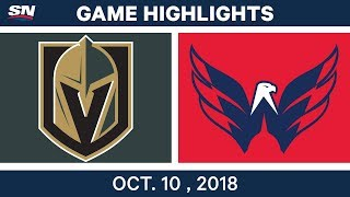 NHL Highlights | Golden Knights vs. Capitals - Oct. 10, 2018