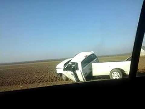 Bus and car crash visalia ca