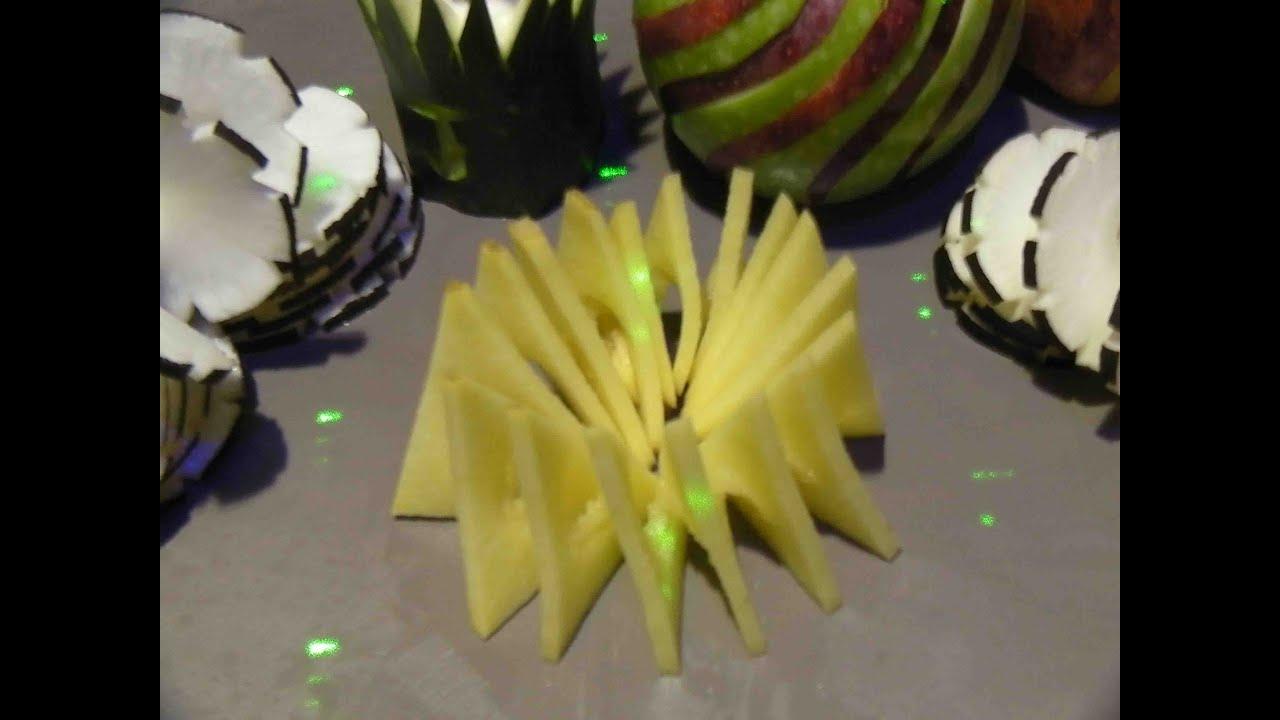 carving potato pomme de terre en spirale triangle youtube. Black Bedroom Furniture Sets. Home Design Ideas
