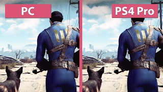 4K UHD Fallout 4 PC vs. PS4 Pro 4K Mode Graphics Comparison