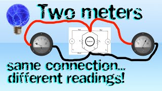 Can two voltmeters connected to the same point give different readings?
