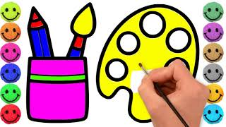 Coloring Box Drawing For Artist | Kids Coloring Pages | Learn Hoe To Coloring