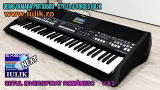 DEMO YAMAHA PSR SX600 COLAJ