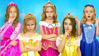 Sasha and funny collection of beautiful dresses and a princess contest