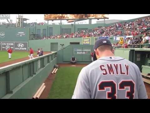 Drew Smyly Bullpen- Fenway Park May 30, 2012.  WWW.BULLPENVIDEOS.COM