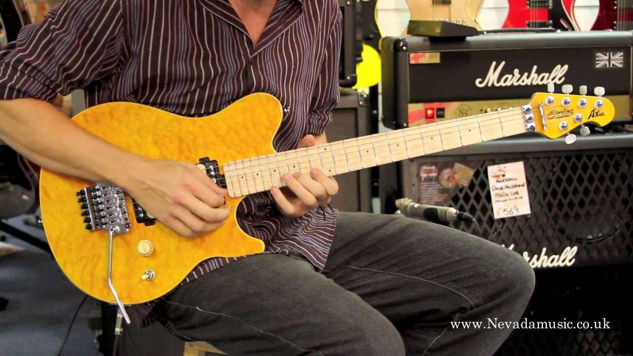 musicman sterling ax40 axis trans gold guitar demo sam bell nevada music uk youtube. Black Bedroom Furniture Sets. Home Design Ideas