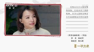 [朗读者——一平方米]《世界名曲欣赏》(节选) 朗读者:郑小瑛| CCTV - YouTube
