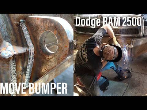 WELDING D.I.Y MOVE BUMPER (00' Dodge 2500) + RADIO INSTALL