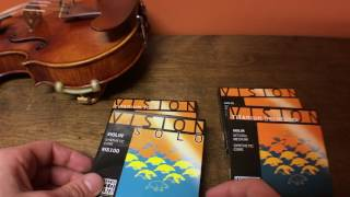 All 4 Vision Violin Strings Compared