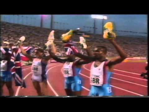 GB win 4 x 400m Gold at the World Athletics C'ships 1991!