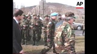 BOSNIA: TURKISH PRESIDENT SULEYMAN DEMIREL VISIT