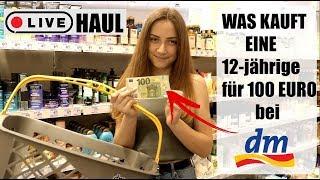 Was kauft eine 6-klässlerin für 100€ bei dm ? 😱 LIVE HAUL