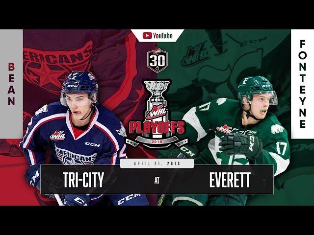 WHL IN 30 || Tri-City Americans  vs Everett Silvertips – April 20, 2018